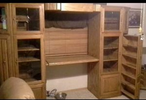 Solid Oak Sectional Entertainment Center for Sale in Hesperia, CA