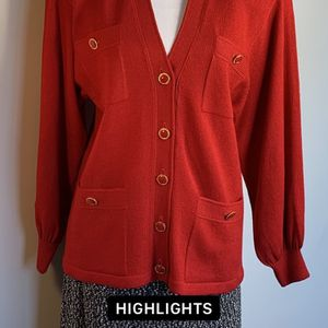 Beautiful Red St. John Sweater Cardigan Size 8/10 for Sale in Perry Hall, MD