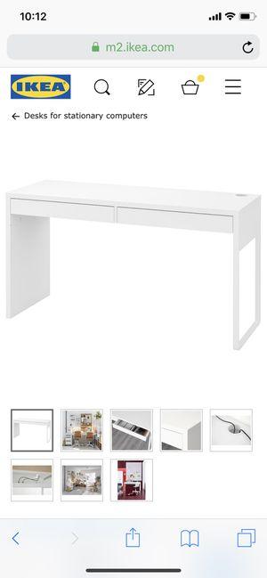 IKEA white Micke desk for Sale in El Cajon, CA