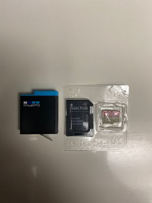 GoPro hero 8 Battery and SanDisk 128 gig SD card for Sale in Las Vegas, NV
