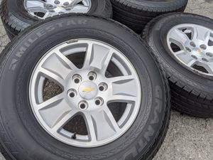 Chevy Silverado Tahoe Suburban P265 70R17 Tires 265 70 17 Rims Yukon for Sale in Charlotte, NC