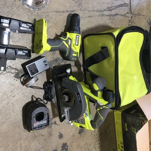 Ryobi 18V Drill Circular Saw With 2 Batteies And Charger for Sale in Fountain Valley, CA