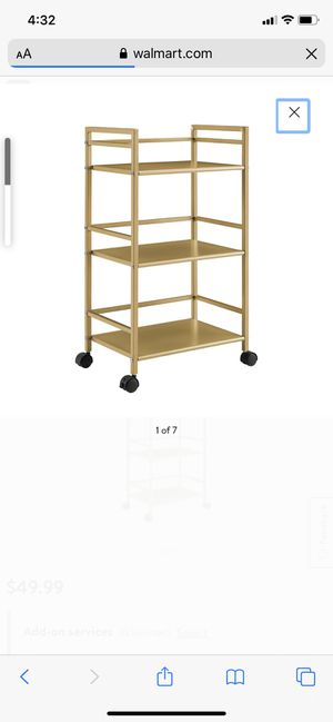 Gold drink cart/ end table for Sale in Cincinnati, OH