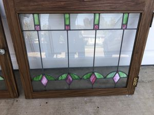 Antique stained glass cabinet doors for Sale in Livermore, CA