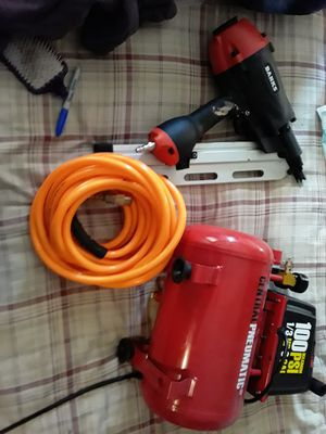 Air compressor and nail gone for Sale in Colorado Springs, CO