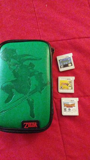 Nintendo 3ds case with 3 games for Sale in Lucas, TX