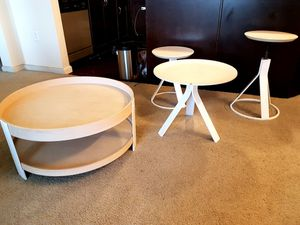 Coffee table, side table and stool set for Sale in Chino Hills, CA