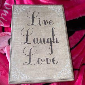 Live,laugh,love storage container for Sale in San Bernardino, CA