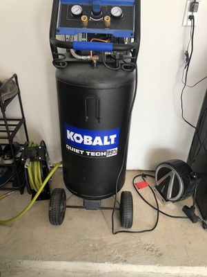Kobalt 26 Gallon Air compressor with air hose reel for Sale in Houston, TX