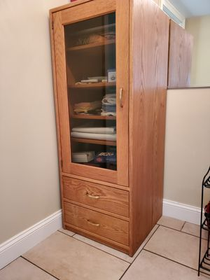 Wood cabinet. Solid oak, custom made. for Sale in Frederick, MD