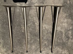 "Set of 4 Mid Century Modern Hairpin Kitchen Table Legs 27.5"" Metal Industrial for Sale in Salinas, CA"