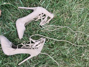 Tan suede heels for Sale in Orlando, FL