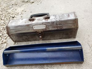 Vintage Sears Craftsman #651 61 Tombstone Tool Box Chest with tray for Sale in Miami, FL