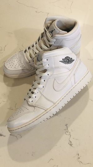 Jordan 1 Mid Triple White Mens Size 12 for Sale in Riverside, CA