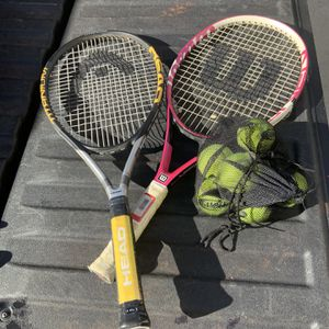 Tennis Rackets And Balls for Sale in Raleigh, NC