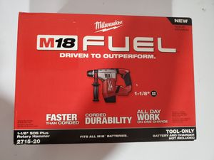 Milwaukee M18 FUEL 18-Volt Lithium-Ion Brushless Cordless 1-1/8 in. SDS-Plus Rotary Hammer (Tool-Only) for Sale in Lynn, MA