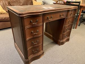 ANTIQUE - Solid wood desk, tons of storage for Sale in Bethesda, MD