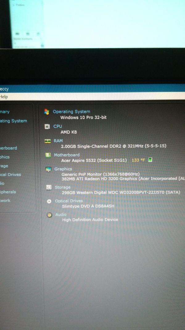 Acer Laptop, Windows 10pro..