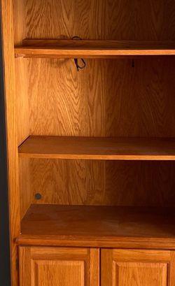 Solid Oak Shelf Unit for Sale in Lindenhurst,  NY
