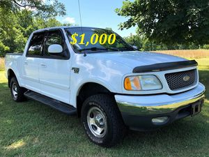🔑💲1,OOO For sale URGENT 🔑2OO2 Ford F-15O Super Crew Cab 4-Door Runs and drives very smooth Clean Title Excellent condition🔑🔑🔑 for Sale in San Francisco, CA