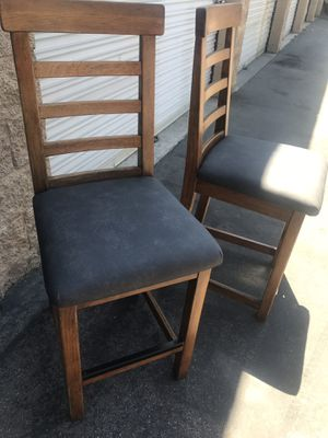 Bar stools . New vinyl fabric with padding. Heavy and sturdy . for Sale in Riverside, CA
