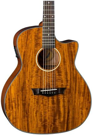 Dean Exotic Gloss Koa Cutaway Acoustic-Electric Guitar Natural for Sale in Clifton, NJ