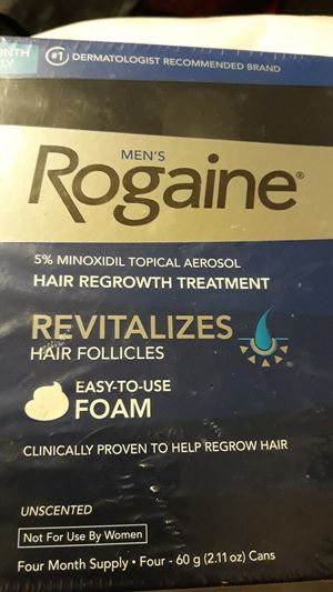 4 month supply Rogaine Men's Foam for Sale in Pittsburgh, PA
