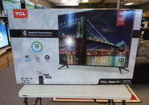 """55"""" TcL roku smart 4K led uhd hdr tv for Sale in Chula Vista, CA"""
