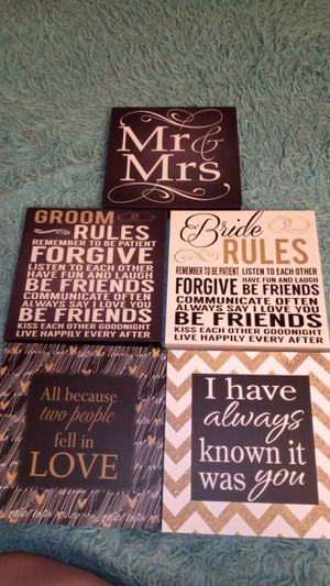 Wedding signs for Sale in Midland, TX
