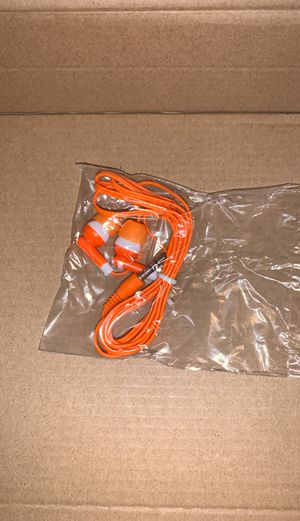 Orange quality earbuds for Sale in Southington, CT