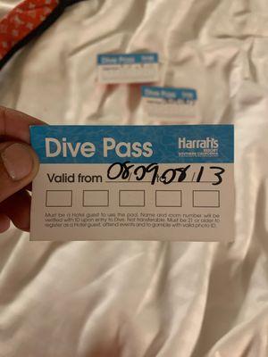 Harrahs Dive passes for Sale in Escondido, CA