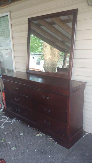Brown Dresser With Mirror for Sale in Alexandria, VA