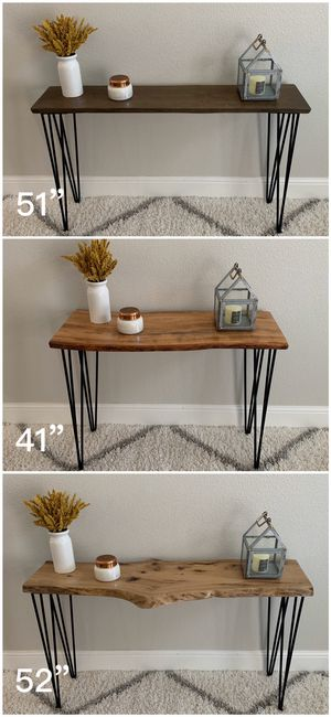 Solid Wood Live Edge Hairpin Legs Console Table Tables Stand Stands Dining for Sale in Pleasanton, CA