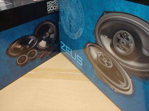 Hifonics (total 2 pairs)1 pair hifonics 1 pair 6.5 inch 400 watts component set & 1 pair 6×9 3 way 400 watts car speakers brand new for Sale in Huntington Park, CA