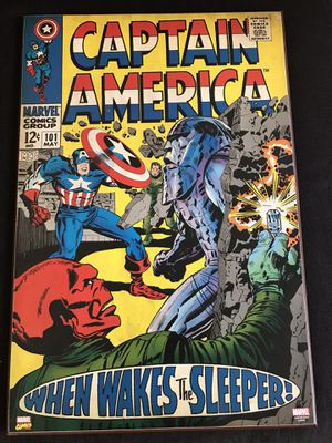 Marvel Captain America Wooden Poster for Sale in San Diego, CA