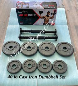 CAP 40 Lb Cast Iron Adjustable Dumbbell Weights for Sale in Fontana,  CA
