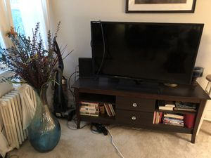 TV stand only great condition real wood $70 for Sale in Silver Spring, MD