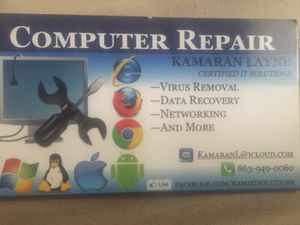 Computer repair,networking and more. for Sale in Eagle Lake, FL