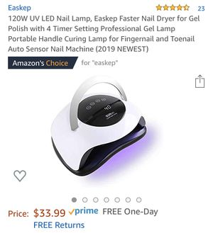 Nail lamp for Sale in Rockville, MD