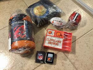 *NWT* Official NFL Cleveland Browns Lot - Zippo, Desk Set, Blanket, Inflatable Chair for Sale in Phoenix, AZ