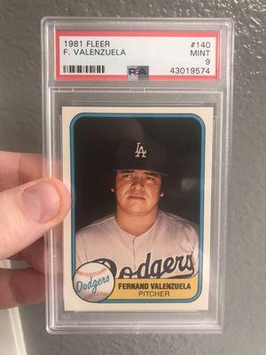 Fernando Valenzuela Rookie 1981 Fleer #140 PSA 9 Mint LA Dodgers Baseball Cards for Sale in Las Vegas, NV