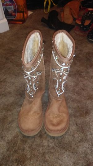 Brown Jewled ugg type boot for Sale in Warren Air Force Base, WY