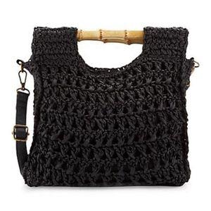Braided Straw Crossbody Bag Black for Sale in College Park, GA