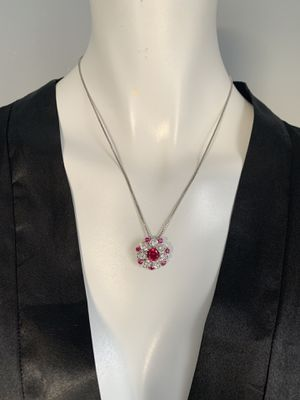 .925 Sterling Silver Flower Gorgeous Necklace for Sale in Boston, MA