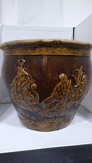 Japanese Asian Ceramic Flower Planter Pot for Sale in Ruston, WA