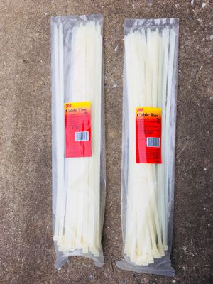 Cable Ties 24 Inch White Heavy Duty Cable Tie -50 pack for Sale in Baltimore, MD