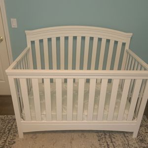 Baby Crib, Mattress, Changing Table, Nursing Glider With Ottoman for Sale in Suwanee, GA