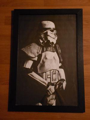 Framed Star Wars Storm Trooper portrait for Sale in Seattle, WA