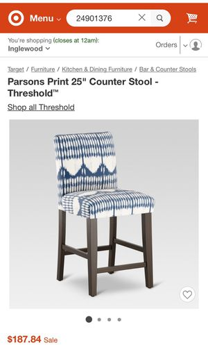 New Threshold bar/counter chair/stool for Sale in Windsor Hills, CA