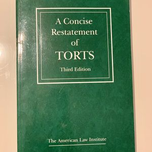 A Concise Restatement of Torts, 3d for Sale in Miami, FL
